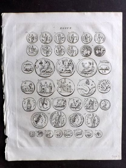 Wells 1817 Anique Coin Print. Egypt